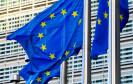Flagge der EU weht im Wind