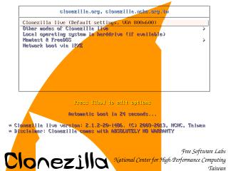 Das Live-System Clonezilla startet von CD oder vom USB-Stick. Das Tool erstellt Images Ihrer Festplatte und spielt sie wieder zurück. Die Images lassen sich komprimieren und auf einer externen USB-Platte abspeichern.
