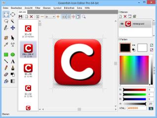 Der Greenfish Icon Editor Pro ist eine mächtige Bildbearbeitung für Icons (*.ICO), Cursor (*.CUR) und animierte Cursor (*.ANI) in verschiedenen Auflösungen und Farbtiefen.