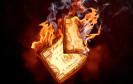 Brennender Geldschen