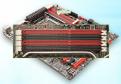 Speicherbänke: Hier gehört der Arbeitsspeicher hinein. Aktuelle Mainboards erwarten DDR3-RAM. Die Farben Schwarz und Rot zeigen, welche Steckplätze jeweils gemeinsam Dual Channel ermöglichen.