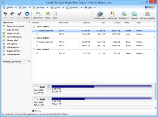 Easeus Partition Master erstellt, formatiert, löscht, kopiert, vergrößert, verkleinert und verschiebt Festplattenpartitionen.Das Tool wandelt aber auch FAT-Partitionen ohne Datenverlust ins NTFS-Dateisystem um, ...