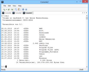 Console2 ersetzt die spartanische Kommandozeilen-Oberfläche von Windows durch eine flexiblere, leistungsfähigere Version mit Tab-Unterstützung.