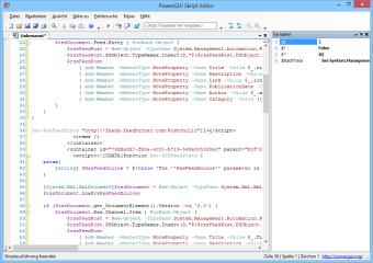 """Versierte Powershell-Nutzer finden im Menü """"Instrumente"""" und in der Icon-Leiste von Power GUI einen Skripteditor für eigene Anpassungen."""