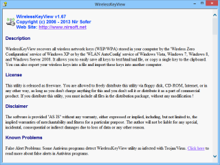 """Ein Klick auf das Beschreibungsfeld eines Tools oder auf den Schalter """"Help File"""" in der Funktionsleiste unten öffnet im Nirlauncher ein Pop-up-Fenster mit einer englischsprachigen Kurzanleitung."""