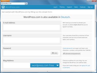 Für Blogger ohne eigenen Webspace stellt WordPress.com kostenlose Zugänge zur Verfügung
