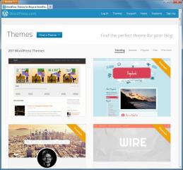 Auch auf WordPress.com stehen zahlreiche kostenlose Themes zur Auswahl