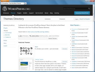 Durch zahllose frei verfügbare Themes lässt sich die Seitengestaltung mit wenig Aufwand anpassen