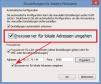 """Internet Explorer III: Für Adressen im eigenen Netzwerk ist ein Proxy-Server unnötig, setzen Sie deshalb ein Häkchen bei """"Proxyserver für lokale Adressen umgehen""""."""