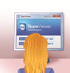 Lisa nutzt ebenfalls den kostenlosen Temviewer oder sie lädt das Quick-Modul von Teamviewer herunter und startet es ohne Installation. In beiden Fällen erhält Sie nach dem Programmstart eine ID und ein Kennwort.