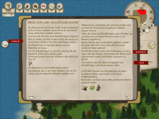 Das Logbuch gibt in Unknown Horizons die aktuelle Mission vor und hilft dabei, den Überblick zu bewahren.
