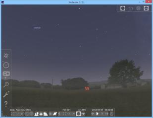 Stellarium zeigt den aktuellen Sternenhimmel in Ihrer Region als fotorealistische Simulation. Der Standardkatalog des PC-Planetarium, der bereits Informationen zu rund 600.000 Sternen enthält, lässt sich bei Bedarf erweitern.