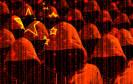 Hacker vor chinesischer Flagge