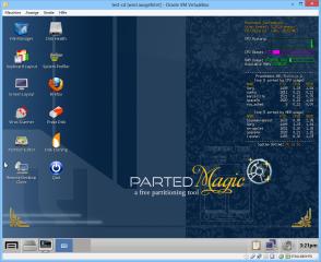 Mit Hilfe eines virtuellen PCs lassen sich Linux-Distributionen oder Live-CDs/-DVDs - hier Parted Magic - in VirtualBox testen, ohne den echten PC neu zu starten.
