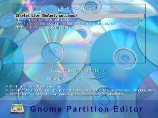 GParted Live vergrößert, verkleinert und kopiert Partitionen. Die Live-CD bootet dazu ein Live-System auf Linux-Basis mit dem Partitionierer Gparted.