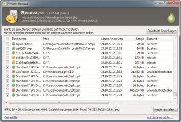 Recuva ist das Universalwerkzeug unter den Datenrettern. Es rettet beispielsweise Daten auf PCs, Musik-Playern und Speicherkarten.