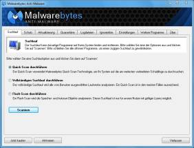 Malwarebytes Anti-Malware scannt das System und entfernt bösartige Software. Die Freeware-Version bietet allerdings nicht alle Features der Vollversion