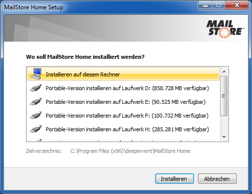 mailstore home professional