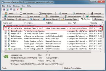 """Hintergrundstarts verhindern: Entfernen Sie auf der Registerkarte """"Services"""" alle Häkchen vor den Programmen, die Sie nicht benötigen – hier der Update-Agent von Adobes Flash Player"""