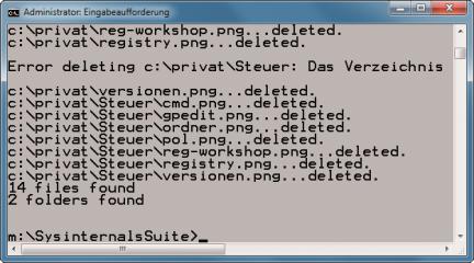 Sdelete: Sdelete steht für Secure Delete – zu Deutsch sicheres Löschen – und ist dafür gedacht, rückstandslos Dateien von der Festplatte zu putzen.