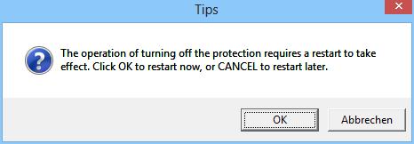 Sobald Sie die Virtualisierung in Time Freeze beenden, weist Sie das Tool darauf hin, dass ein Neustart des PCs erforderlich ist. Alle Änderungen, die Sie oder andere während des virtuellen Betriebs vorgenommen haben, werden dann verworfen.
