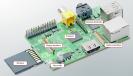 Der Raspberry Pi ist ein Mini-PC und kostet rund 35 Euro. Als Prozessor verwendet er eine ARM-CPU mit einer Taktfrequenz von 700 MHz. Das RAM ist je nach Modell 256 MByte oder 512 MByte groß.