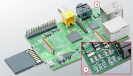 """Status-LEDs: Die LEDs informieren über den Status des Raspberry Pi. """"OK"""" leuchtet bei Aktivität der SD-Karte. """"PWR"""" signalisiert den Stromanschluss. """"FDX"""" zeigt, ob das Netzwerk Full-duplex ist. """"LNK"""" leuchtet, wenn ein Netzwerk erkannt wird."""