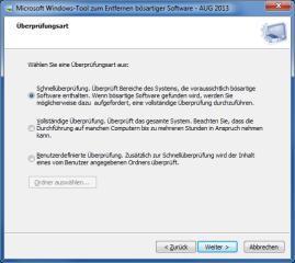 Microsofts Windows-Tool zum Entfernen bösartiger Software spürt weit verbreitete Schadprogramme auf und entfernt gefundene Schädlinge automatisch.