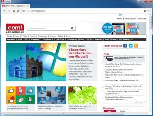 Der kostenlose Webbrowser Opera bietet eine tab-basierte Nutzeroberfläche und kann im Funktionsumfang mit den Wettbewerbern Chrome und Firefox mithalten. Seit dem Umstieg auf die Web-Kit-Engine unterstützt Opera auch zahlreiche Chrome-Erweiterungen.