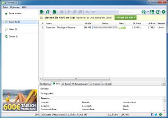 µTorrent ist ein schlanker BitTorrent-Client, mit dem Sie Ihre Dateien schnell und einfach herunterladen.