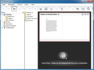 Das kostenlose Tool PDF24 Creator erstellt aus Office-Dokumenten und Bildern im Handumdrehen PDFs und verschlüsselt diese auf Wunsch. Neue Inhalte fügen Sie bequem per Drag & Drop ein.