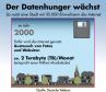 Im Jahr 2000 wahr der Datenhunger der Deutschen noch recht gering, da das Internet überwiegend zum Austausch von Fotos und Webseiten genutzt wurde.