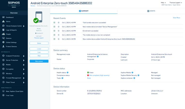 Soophos Unified Endpoint Management