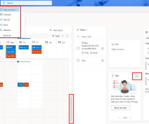 Outlook 365/2019 Web: Kalender-Board anpassen – so gehts