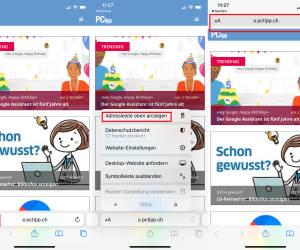 iOS 15: Safari-Adressleiste wieder oben