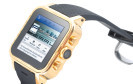 Simvalley GW-420: Android-Smartwatch in 23 Karat Gold