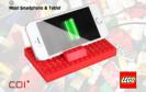 Lego-Fans basteln sich ihre Smartphone-Ladestation selbst. COI+ stellt dazu einen Lego-kompatiblen Baustein mit integriertem Lithium-Polymer-Akku vor.