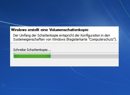 Schattenkopien in Windows 7 nutzen