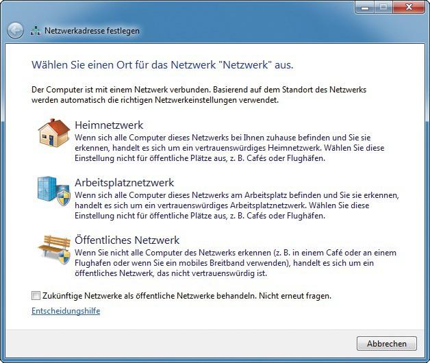 Netzwerk In Windows 7 Optimal Einrichten Com Professional