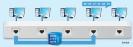 Switch - Nimmt ein Switch ein Datenpaket an, dann leitet er es nicht wie ein Hub blind an alle angeschlossenen Rechner weiter. Stattdessen prüft er die Empfänger-MAC-Adresse und gibt das Paket nur an den Anschluss weiter, an dem der Zielrechner hängt.