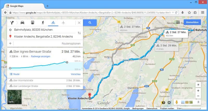 Maps Route Berechnen Fahrrad : google maps zeigt h henmeter f r radler an com professional ~ Themetempest.com Abrechnung