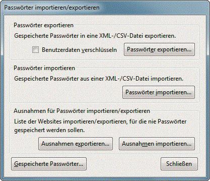 Firefox Gespeicherte Passwörter Drucken