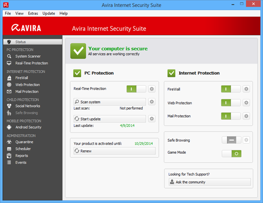 Avira Internet Security 2014