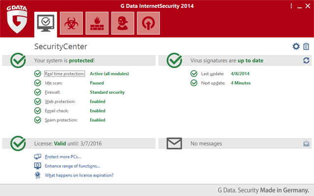 G Data Internet Security 2014
