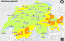 Das Schweizer Naturgefahrenportal zeigt Urlaubern und Anwohnern in einer übersichtlichen Kartendarstellung die aktuelle Naturgefahrenlage in der gesamten Schweiz.