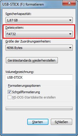 Usb Fat32 Formatieren