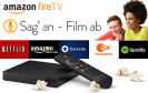 """Seit April gibt es sie in den USA, jetzt bringt Amazon seine Streaming-Box """"Fire TV"""" auch nach Deutschland. Filme, Serien und Spiele aus dem Web lassen sich damit auf dem Fernseher ansehen."""