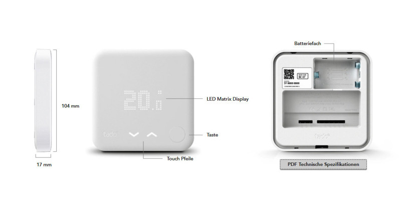 tado verbessert thermostat f rs smart home com professional. Black Bedroom Furniture Sets. Home Design Ideas