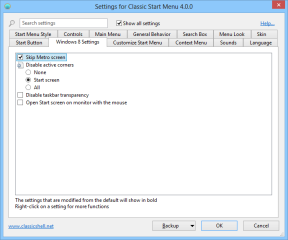 In den erweiterten Einstellungen von Classic Shell lässt sich außerdem genau festlegen, was im Startmenü angezeigt werden soll und ob Windows 8 direkt zum Desktop durchbooten soll.