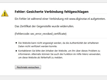 SSL-GAU erfordert Windows und Firefox-Update - com! professional